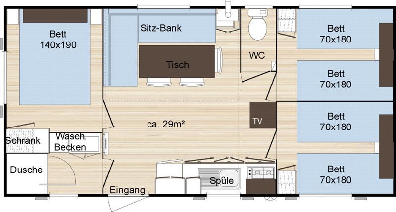 Mobile Home  Chambre Campeole